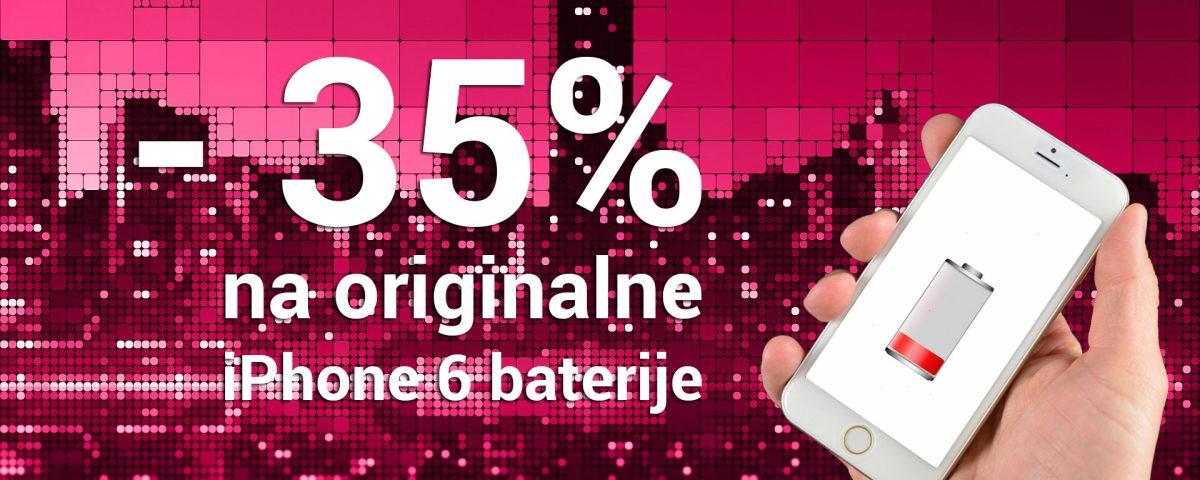 -35 posto popusta na iPhone 6 baterije